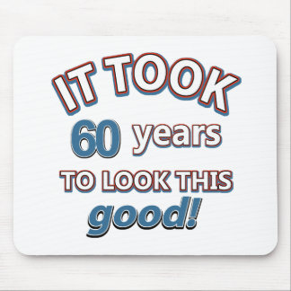 60th year birthday designs mouse pad