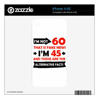 60th year old birthday gifts iPhone 4S decal