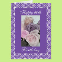 60th's birthday roses (change age) card