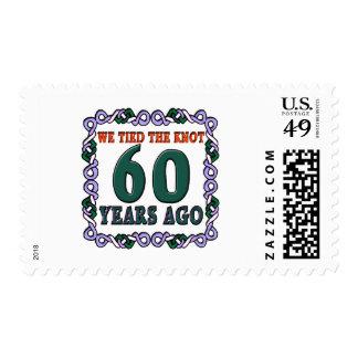 60thweddinganniversary postage