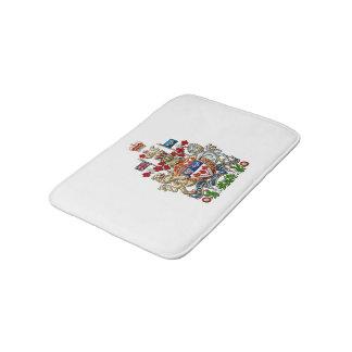 [610] Canada Coat of Arms [3D] Bath Mats