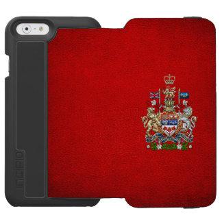 [610] Canada Coat of Arms [3D] Incipio Watson™ iPhone 6 Wallet Case