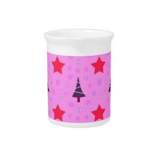 610 Cute Christmas tree and stars pattern.jpg Pitcher