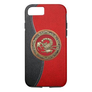 [610] Escorpión de oro sagrado en rojo Funda iPhone 7