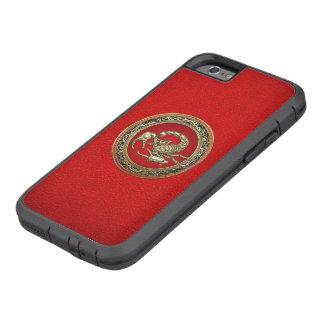 [610] Escorpión de oro sagrado en rojo Funda Tough Xtreme iPhone 6