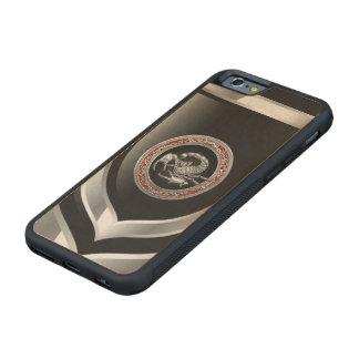 [610] Escorpión de plata sagrado en negro Funda De iPhone 6 Bumper Arce