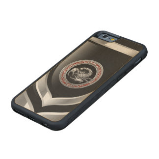 [610] Sacred Silver Scorpion on Black Carved Maple iPhone 6 Bumper Case