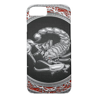 [610] Sacred Silver Scorpion on Black iPhone 7 Case