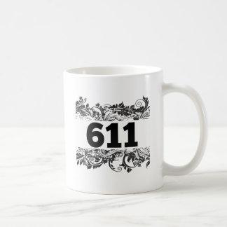 611 CLASSIC WHITE COFFEE MUG