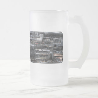 611 - NW - J Class - Steam 4-6-4 - Wheels 16 Oz Frosted Glass Beer Mug