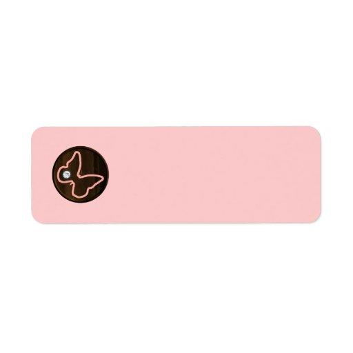 6121_pink-butterfly-wood WOODEN PINK DIAMOND BUTTE Return Address Label