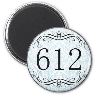612 Area Code Fridge Magnets