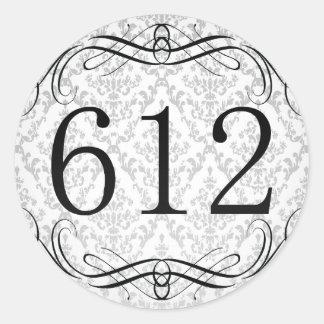 612 Area Code Round Stickers