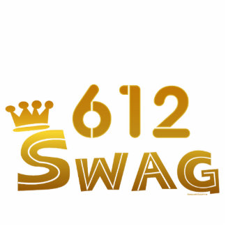 612 Area Code Swag Cutout