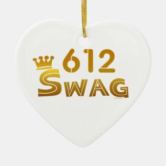 612 Minnesota Swag Christmas Ornaments