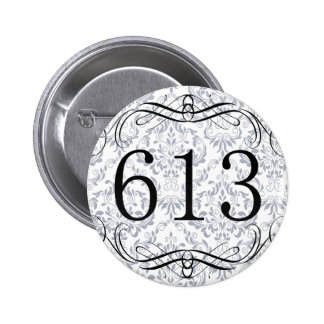 613 Area Code Pinback Button