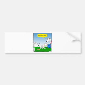 613 dalmation cat cartoon car bumper sticker