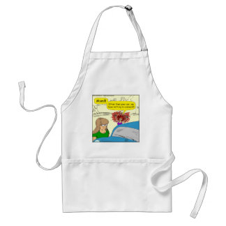 614 car in common cartoon adult apron