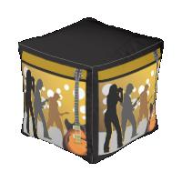 615 Nashville Sturdy Spun Polyester Cube Pouf 13