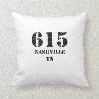 615 Nashville TN Throw Pillow