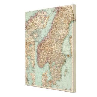 6162 Suecia, Noruega Lona Envuelta Para Galerías