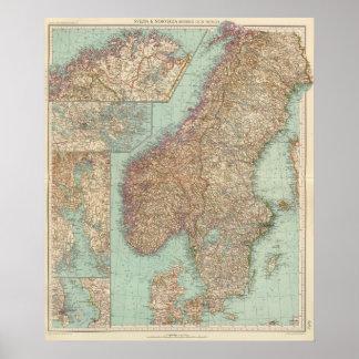 6162 Suecia, Noruega Póster