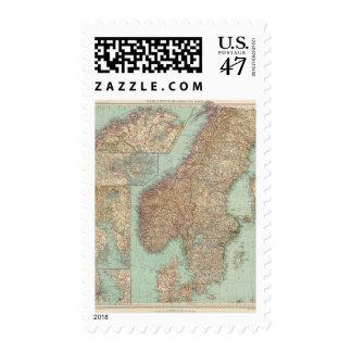 6162 Suecia, Noruega Sellos Postales