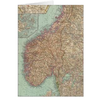 6162 Suecia, Noruega Tarjeta De Felicitación