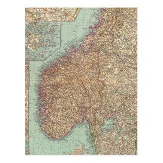 6162 Suecia, Noruega Tarjeta Postal