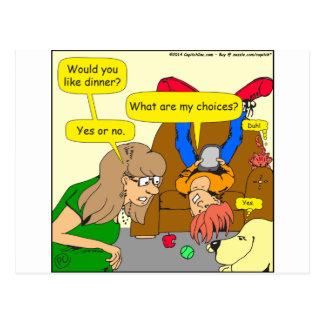 616 quieren el dibujo animado de la cena tarjetas postales