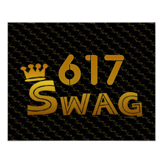 617 Area Code Swag Poster