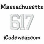 617 Boston Embroidered Hooded Sweatshirts