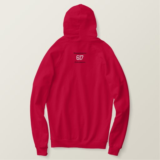 617 Boston Embroidered Hoodie