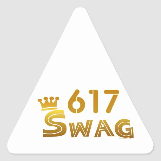 617 Massachusetts Swag Triangle Sticker