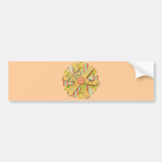 6185 PAPER FLOWER CUTOUT PEACHES PASTEL YELLOW GRE BUMPER STICKERS