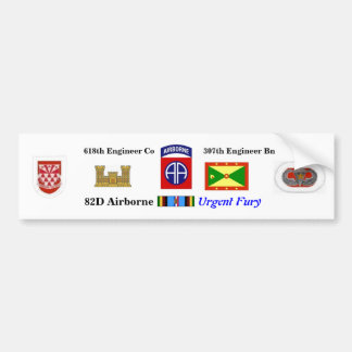 618th Pegatina para el parachoques urgente de la f Etiqueta De Parachoque