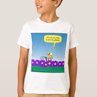 619 I wet my plants cartoon T-Shirt