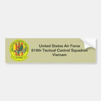 619th Escuadrilla Vietnam del control táctico Pegatina Para Auto