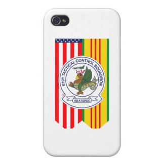 619th Tactical Control Squadron W/Flags iPhone 4 Case