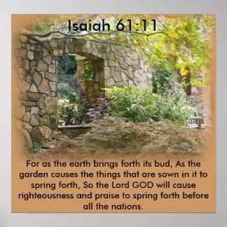61:11 de Isaías Póster