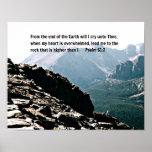 61:2 del salmo del extremo de la tierra… poster