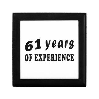 61 años de experiencia caja de regalo