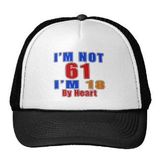 61 Birthday Designs Trucker Hat