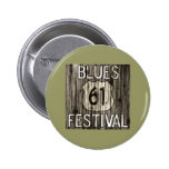 61 Blues Festival 2 Inch Round Button
