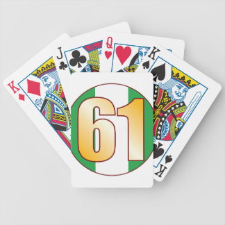 61 NIGERIA Gold Bicycle Playing Cards