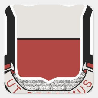 61.o Batallón del ingeniero Pegatina Cuadrada
