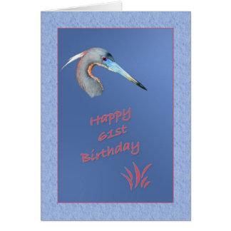61.o Tarjeta de cumpleaños con la garza de Tricolo
