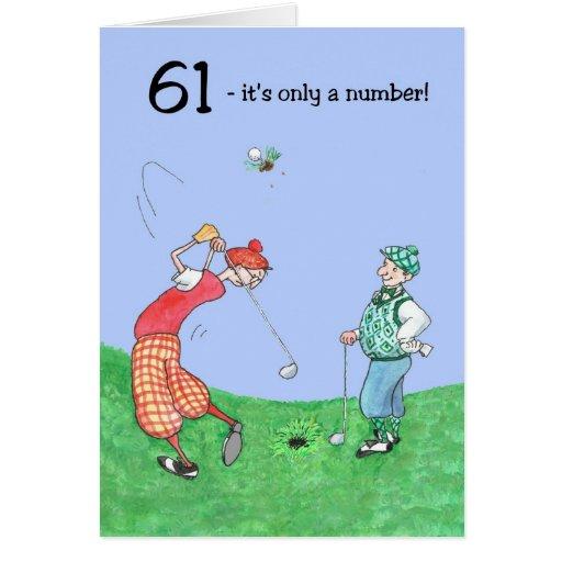 61.o Tarjeta de cumpleaños para un golfista