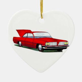 61 Pontiac 2 Door Hardtop Ceramic Ornament