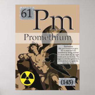 61. Promethium (Pm) Periodic Table of the Elements Poster